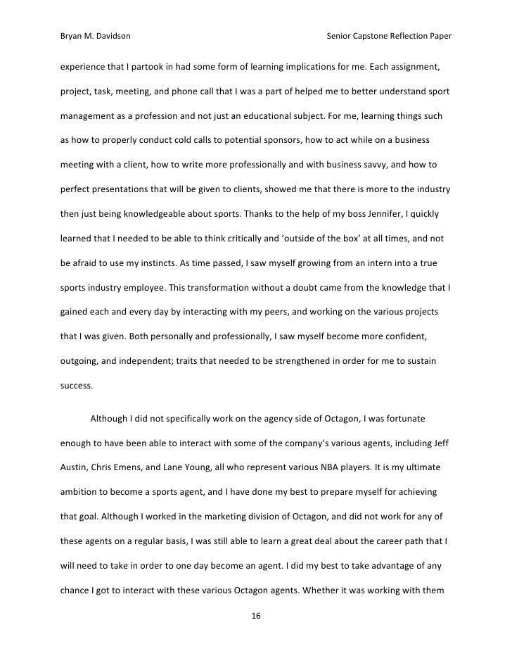 My Future Plan Essay Internship Reflection Paper Essay Should Students Be Paid For Good Grades Essay also The Power Of One Essay Senior Reflection Essay Papers Martin Luther King Essay