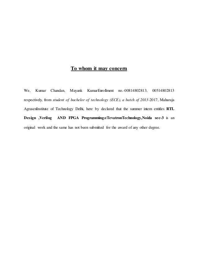 Report on VLSI