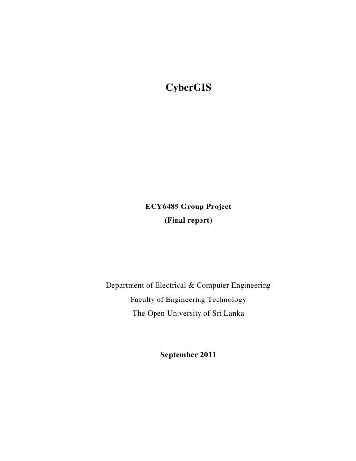 CyberGIS           ECY6489 Group Project                (Final report)Department of Electrical & Computer Engineering     ...