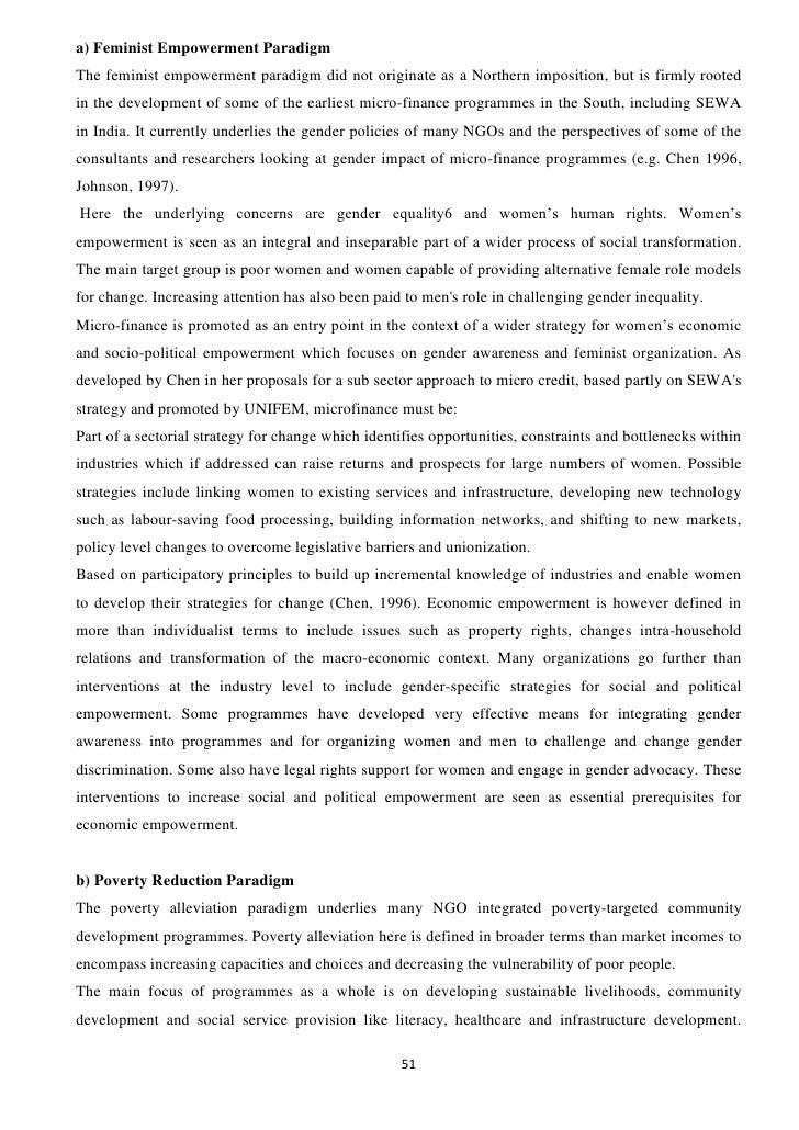Microfinance : Project Report