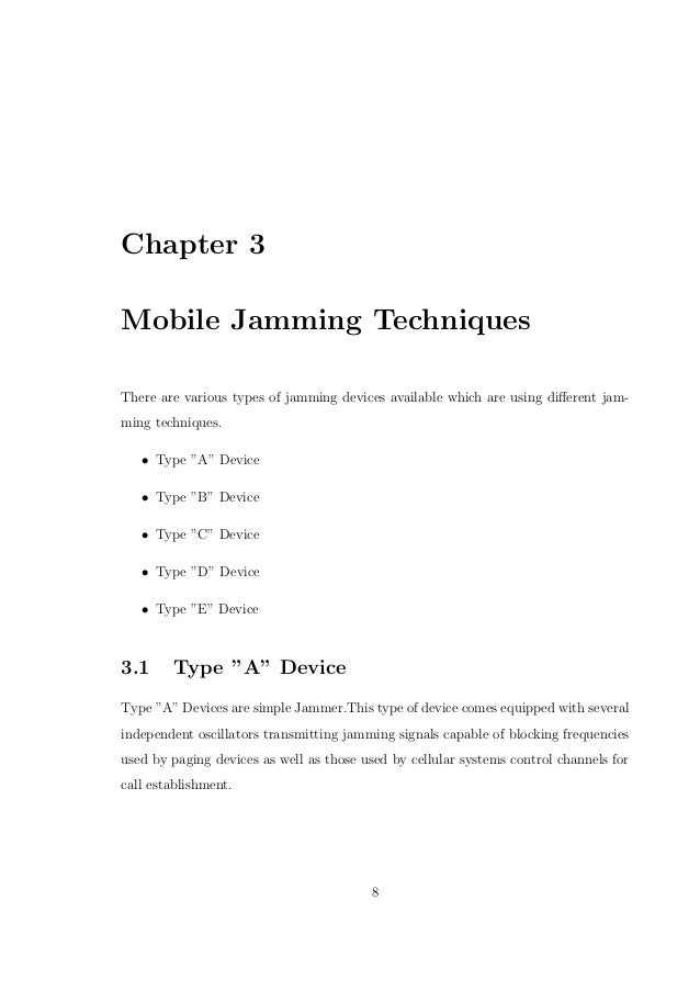 Mobile Jammer report