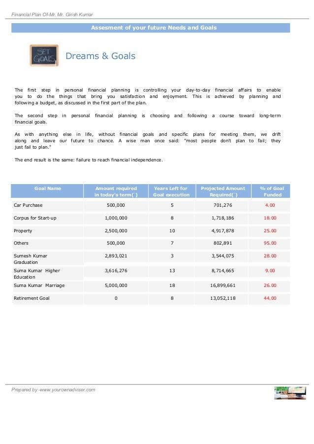 Financipal Planning Report (Sample)