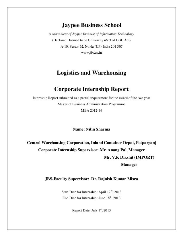 logistics and warehousing