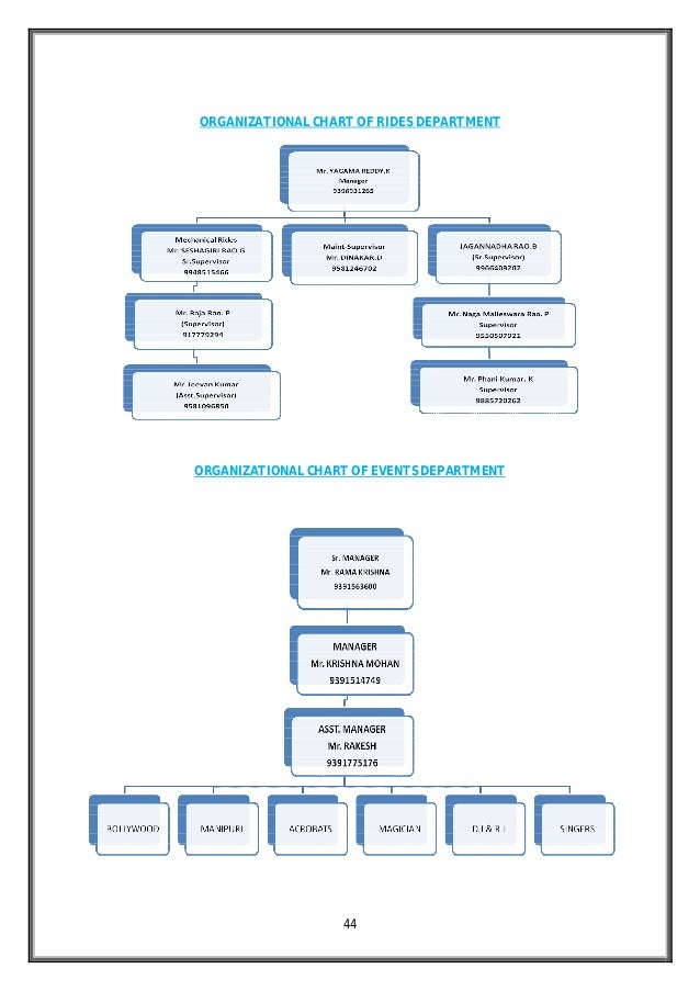 ... ORGANISATIONAL STRUCTURE; 44. 44 ORGANIZATIONAL CHART ...