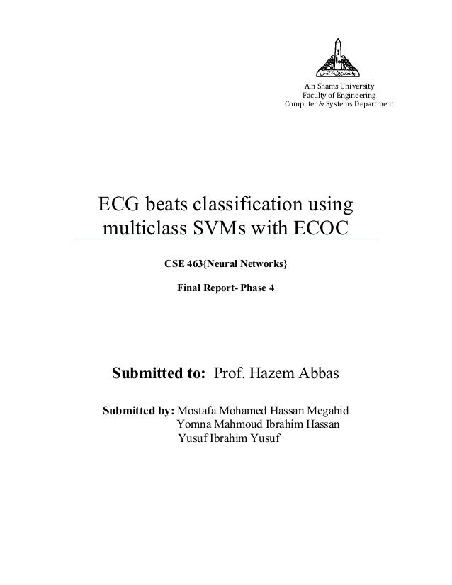 ECG beats classification using multiclass SVMs with ECOC