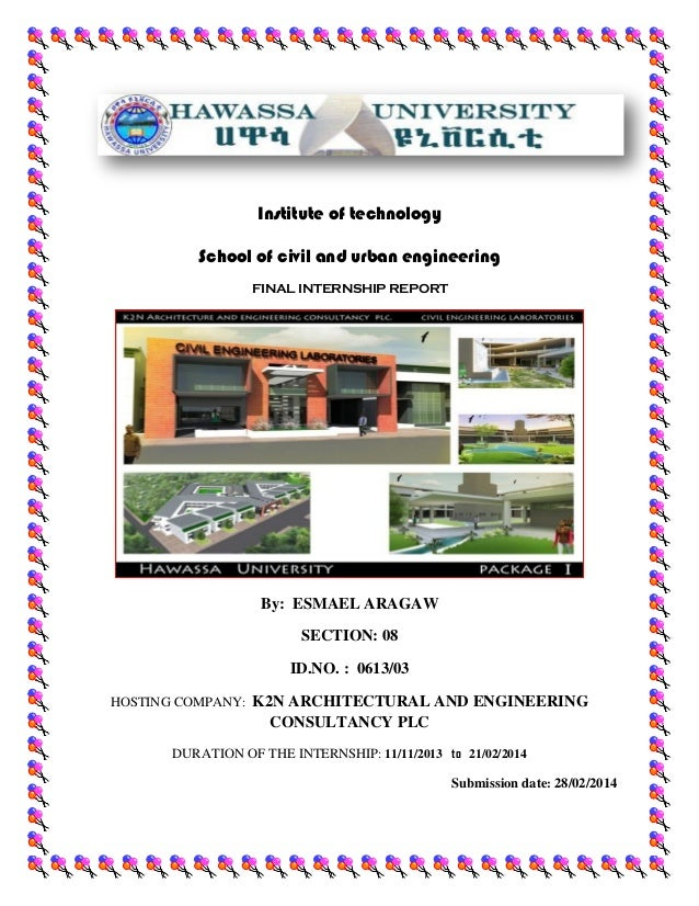 internship report on construction company pdf