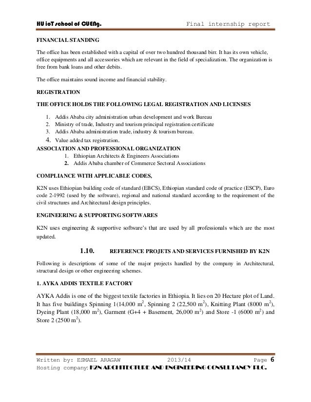 civil engineering internship report on building construction