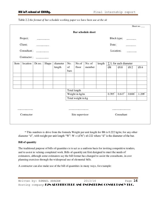 Construction Bill Format  Commercial Invoice Templates