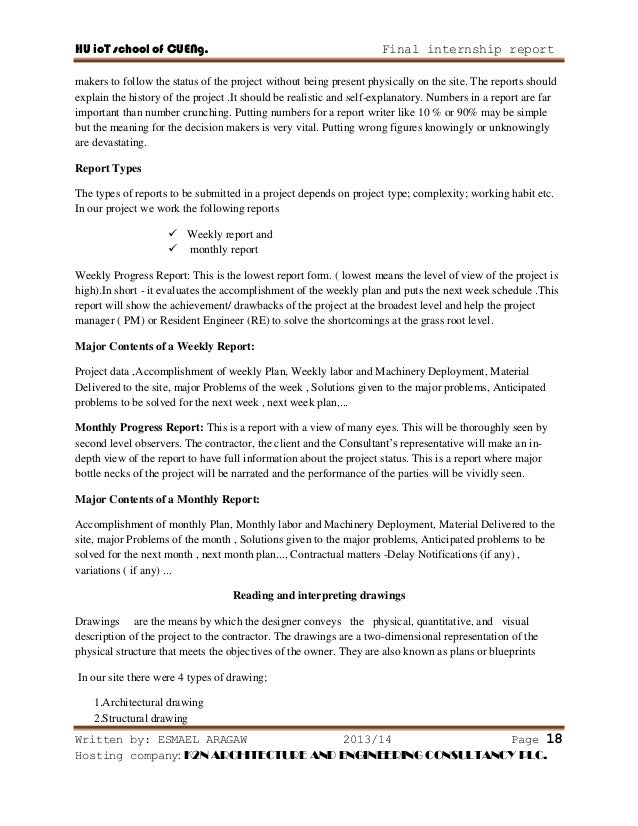 report on building construction pdf
