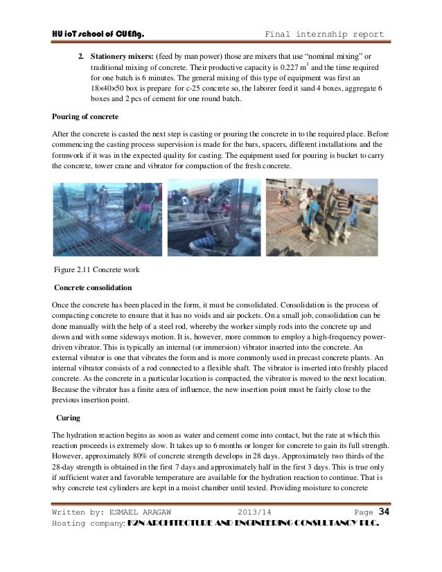Internship Report on Building Construction