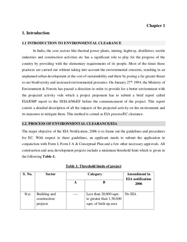 guidelines for environmental impact assessment of highway projects