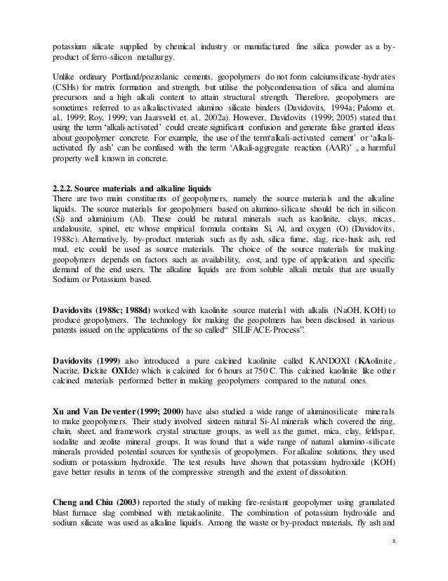 dissertation geopolymer concrete
