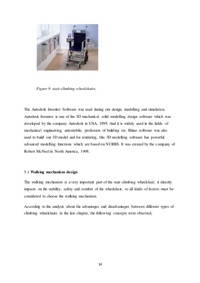 AUTOMATED STAIR CLIMBING WHEELCHAIR