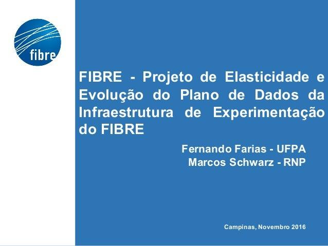 FIBRE - Projeto de Elasticidade e Evolução do Plano de Dados da Infraestrutura de Experimentação do FIBRE Fernando Farias ...