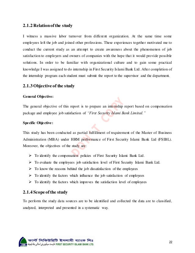 """internship report on first security islami bank limited Practice at first security islami bank ltd"""" this report is an outcome of the  internship program which is an academic requirement for the."""