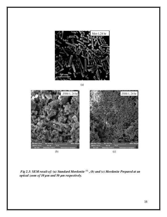 An Experimental Enquiry into The Growth of Mordenite