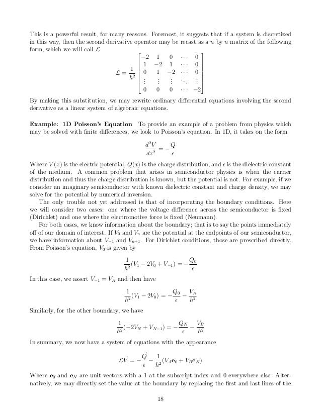 On the Numerical Solution of Differential Equations