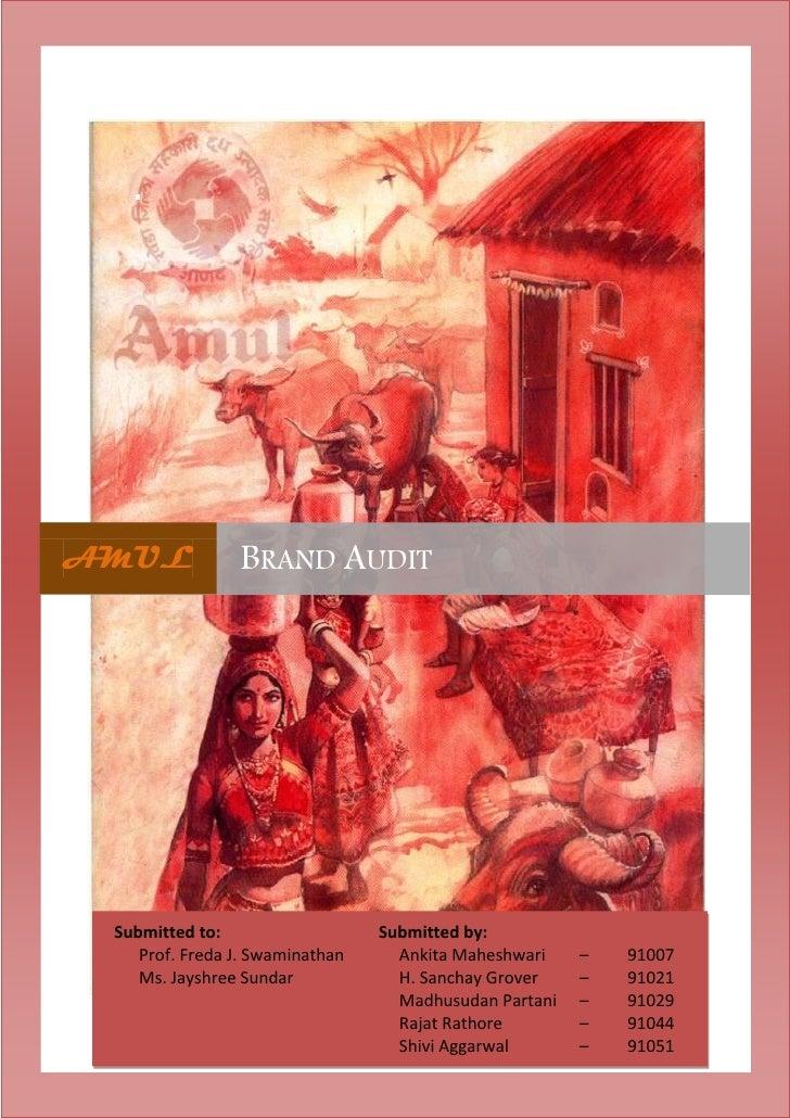 Amul:Brand Audit