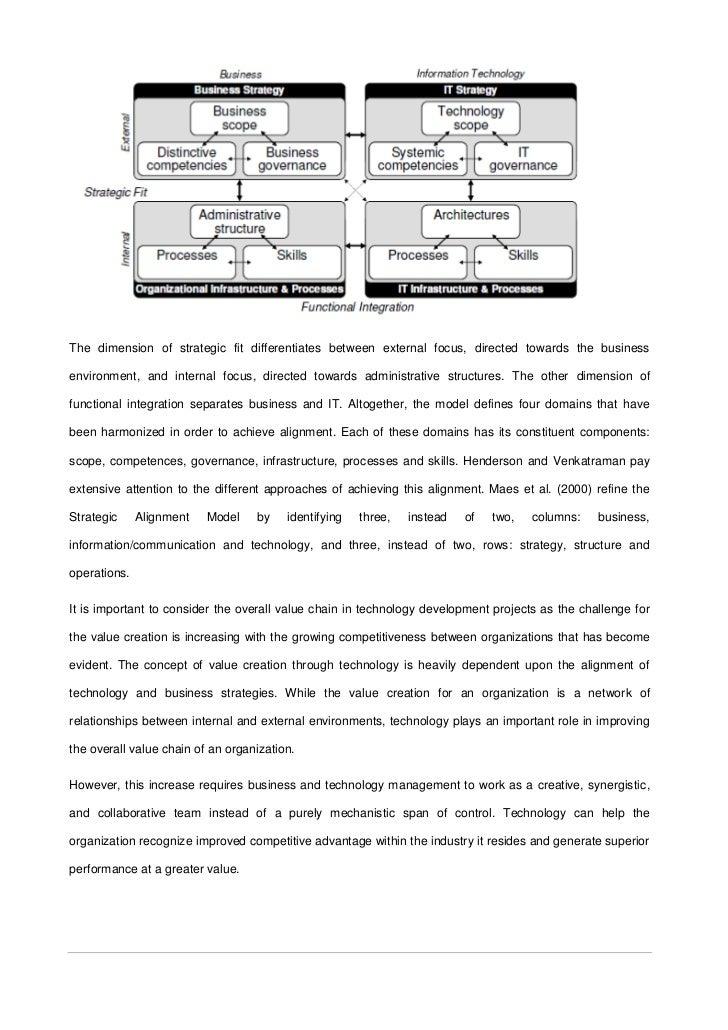 strategic alignment worksheet