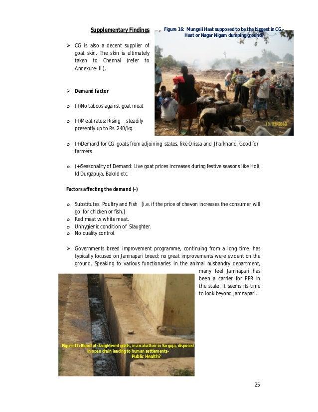 Goat Meat (Chevon) Subsector Study, Chhattisgarh