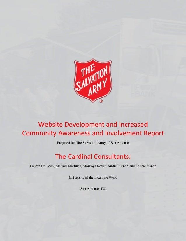 Salvation army final report website development and increased community awareness and involvement report prepared for the salvation army of san toneelgroepblik Images