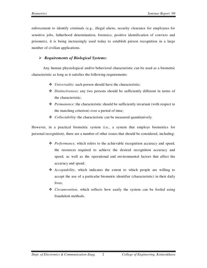 Final Report Biometrics