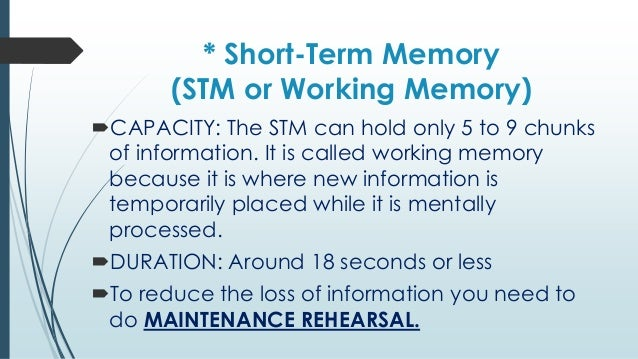 short term memory theory essay A summary of memory processes in 's memory learn exactly what happened in this chapter, scene, or section of memory and what it means perfect for acing essays, tests, and quizzes, as well as for writing lesson plans.