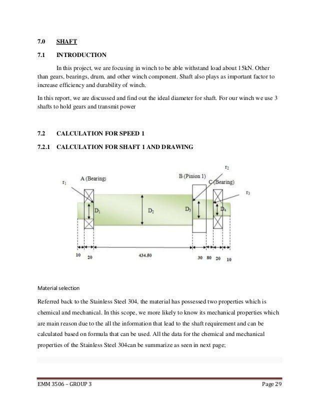 Introduction Drawing Calculation For Winch Design