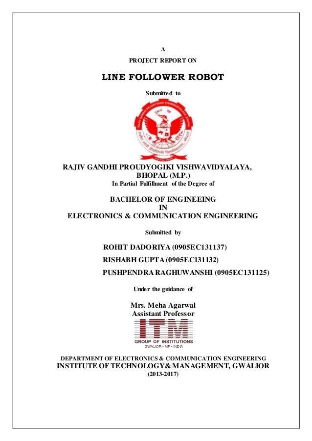 Final report of line follower robot