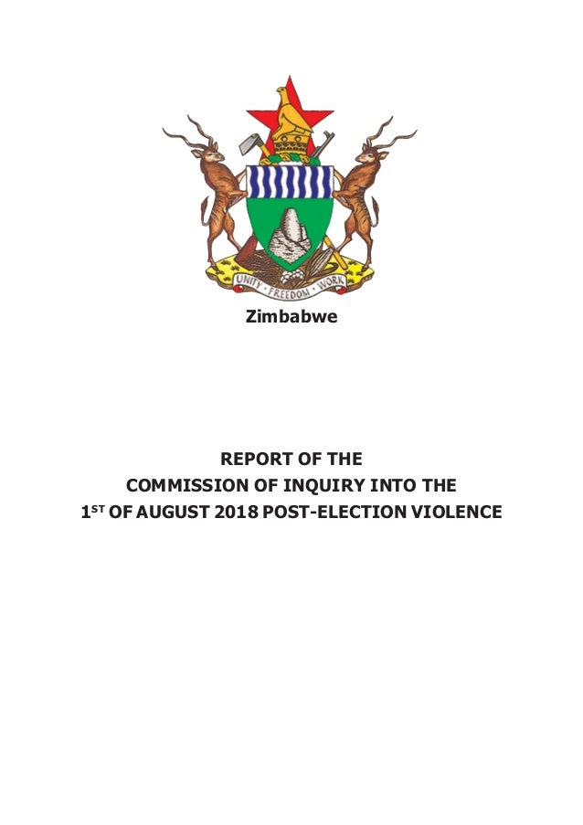 Final Report of the Commission of Inquiry