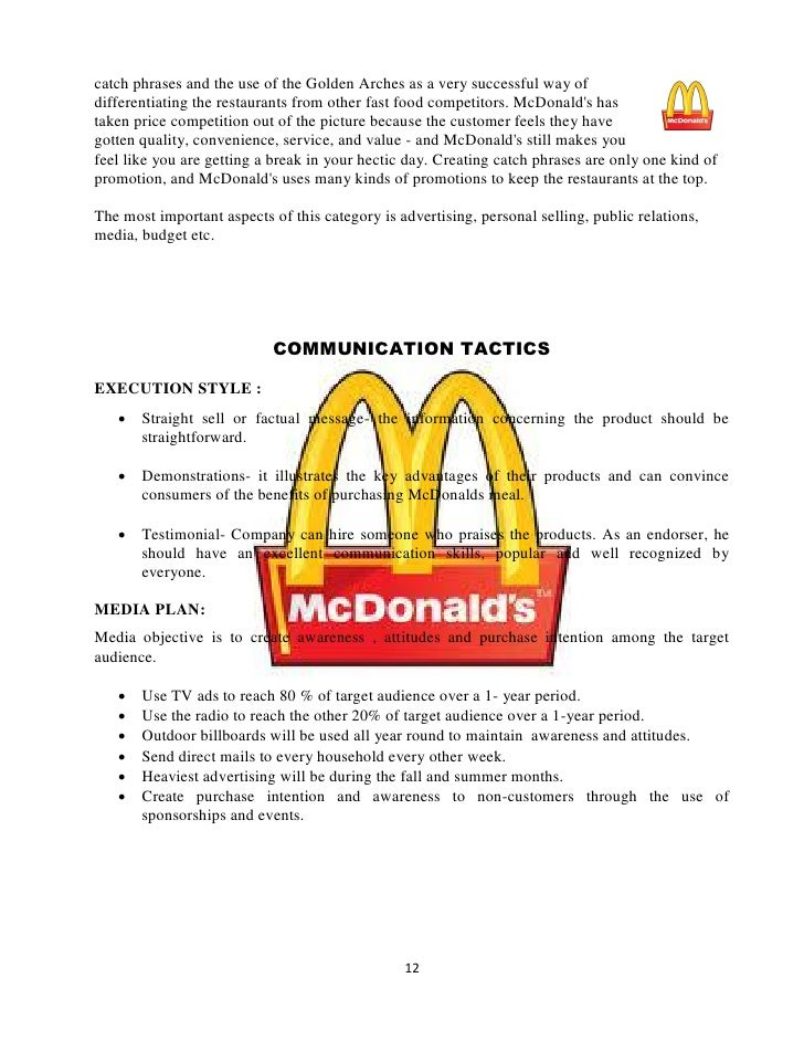 report on mc donalds Mcdonald's released the framework in conjunction with the company's 2012-2013 csr & sustainability report in creating the framework, mcdonald's continued its historically collaborative approach by consulting with suppliers, franchisees, customers and more than a dozen sustainability experts, ngos and socially responsible investment .
