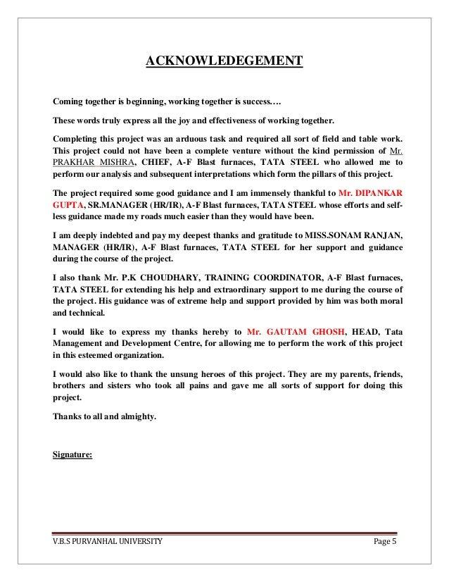 report on welfare of tata steel
