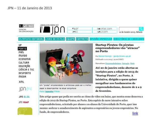 Notícias da UP – 11 de Janeiro de 2013                                         link