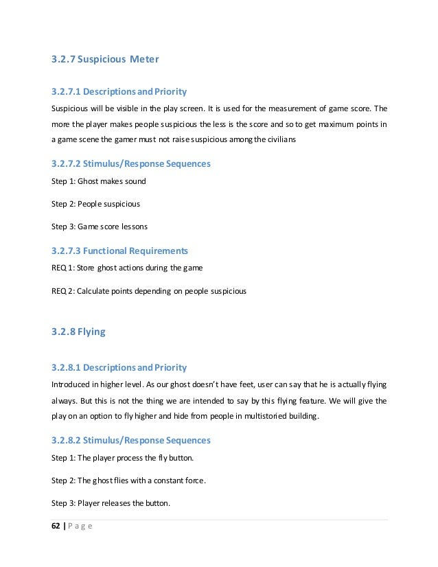 3.2.7 Suspicious Meter  3.2.7.1 Descriptions and Priority  Suspicious will be visible in the play screen. It is used for t...