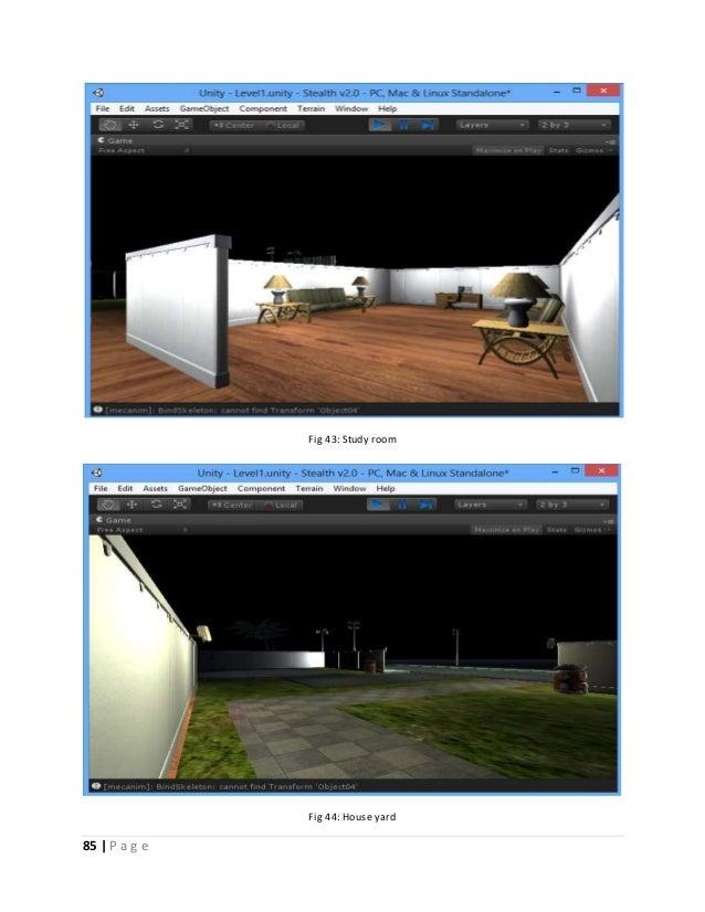 85   P a g e  Fig 43: Study room  Fig 44: House yard