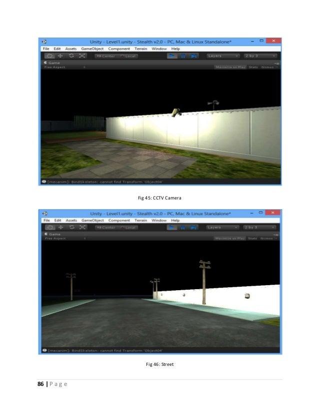 86   P a g e  Fig 45: CCTV Camera  Fig 46: Street