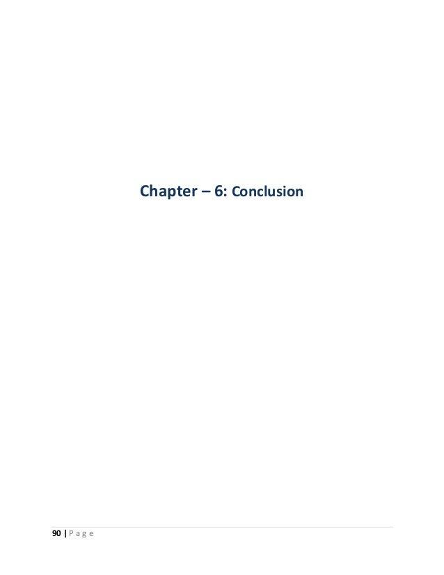 90   P a g e  Chapter – 6: Conclusion