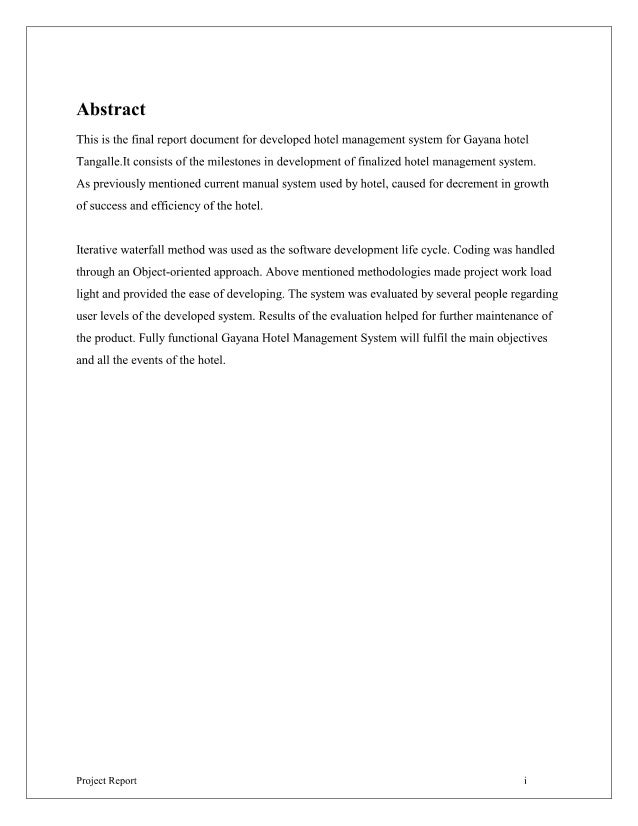 Hotel management system proposal pdf
