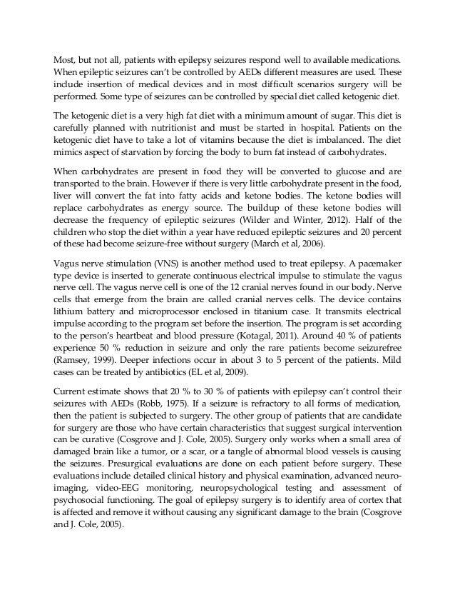 Epilepsy essay