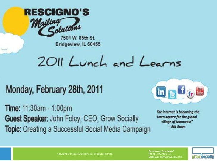 Rescigno's Lunch and Learn with John Foley