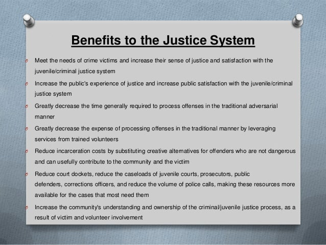 restorative justice a need of Restorative justice needs  the core of an aboriginal restorative process is generally a  a restorative justice process will often be one part of a set of.