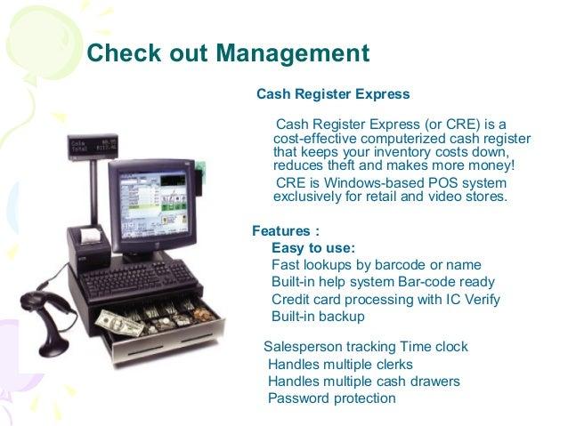 Check out Management Cash Register Express Cash Register Express (or CRE) is a cost-effective computerized cash register t...