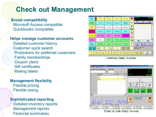 Check out Management Broad compatibility Microsoft Access compatible Quickbooks compatible Helps manage customer accounts ...