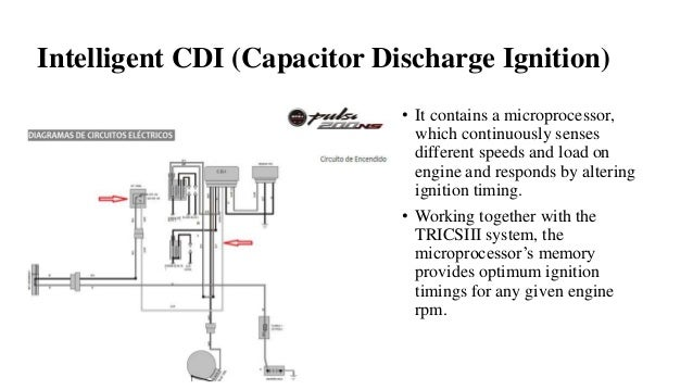Intelligent CDI (Capacitor Discharge Ignition) • It contains a microprocessor, which continuously senses different speeds ...