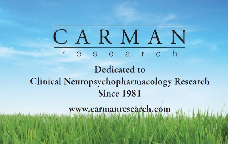 Experienced Physicians John S. Carman, M.D.    Medical Director and Founder of Carman Research    Clinical research for ov...