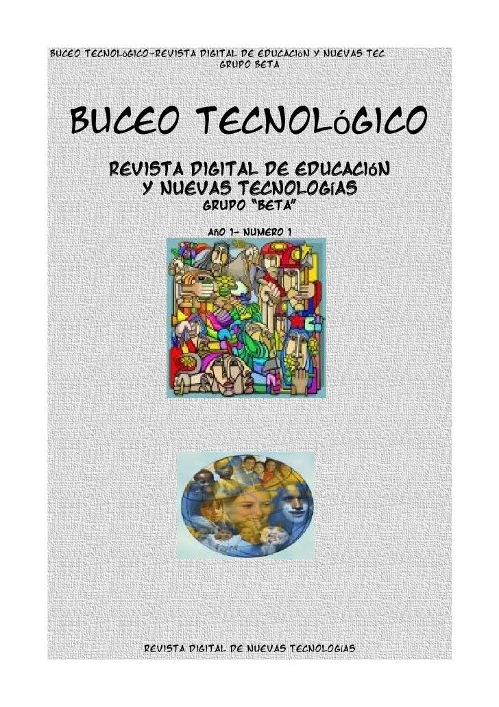 Buceo tecnológico-revista digital de educación y nuevas tec                               grupo beta        Buceo tecnológ...