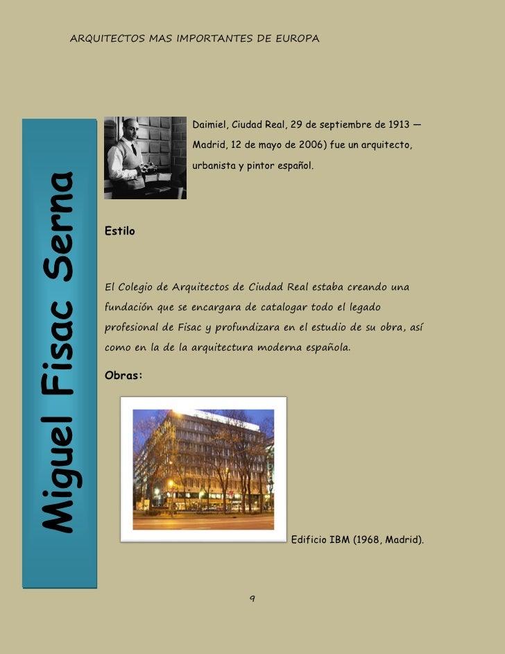 Final revista arquitectos mas importantes - Arquitectos ciudad real ...