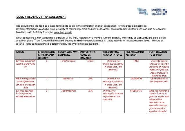 food safety risk assessment template - final risk assessment