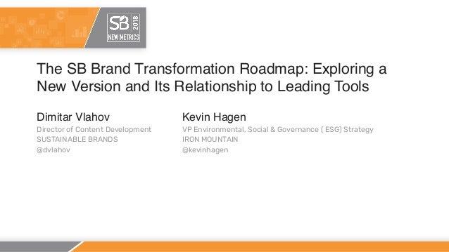 The SB Brand Transformation Roadmap: Exploring a New Version and Its Relationship to Leading Tools Dimitar Vlahov Director...