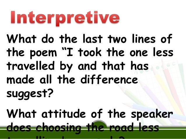 comparing the lesson and the road not Comparing the \other wes moore\ to \the road not taken\ by robert frost by harrison mccurdy and chris abbott 9th grade english curriculum resource & lesson plans clip makes it super easy to turn any public video into a formative assessment activity in your classroom.